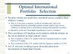 optimal international portfolio selection