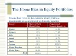 the home bias in equity portfolios