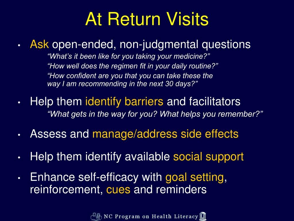 At Return Visits