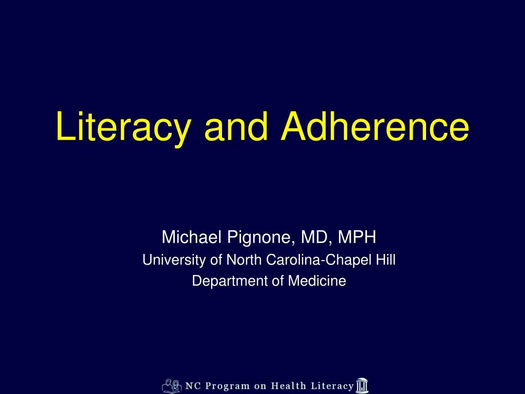 literacy and adherence l.