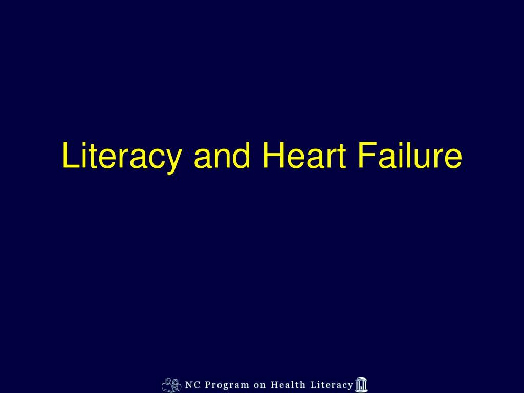 Literacy and Heart Failure