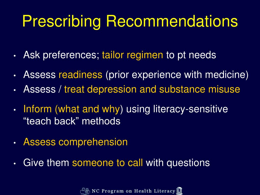 Prescribing Recommendations