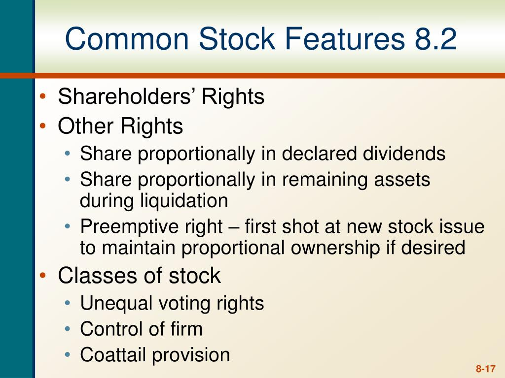 Common Stock Features 8.2