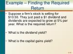 example finding the required return