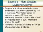 example non constant dividend growth