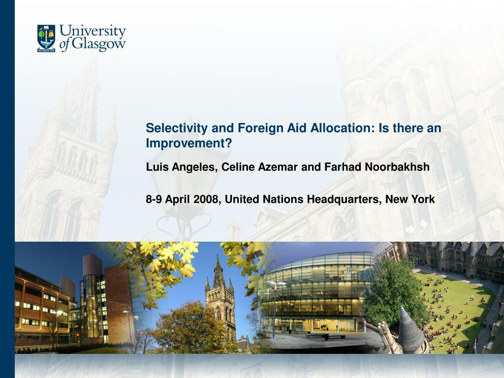 selectivity and foreign aid allocation is there an improvement l.