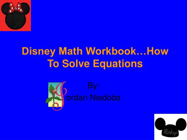 disney math workbook how to solve equations n.