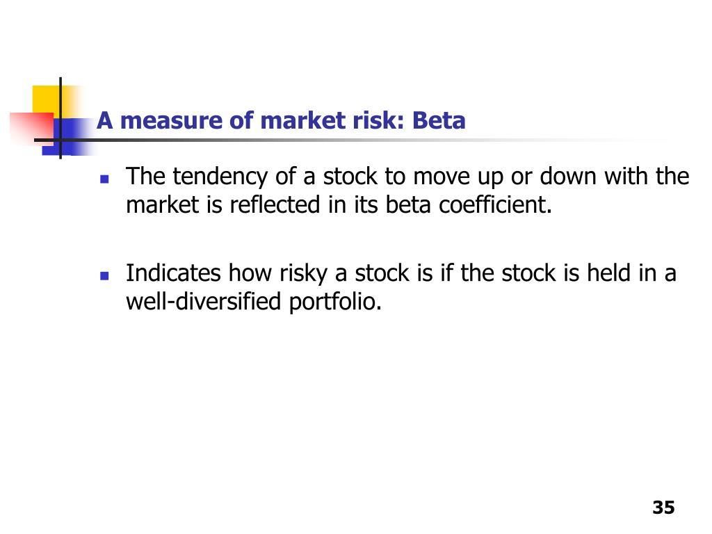 A measure of market risk: Beta