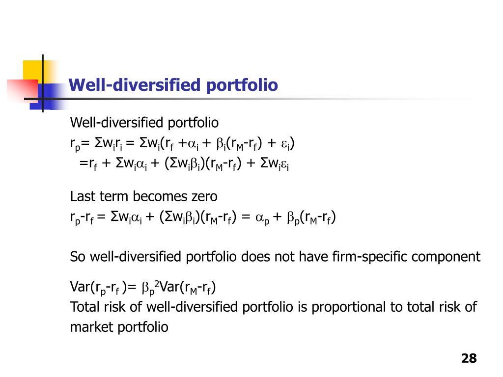 Well-diversified portfolio
