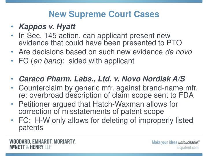 New Supreme Court Cases