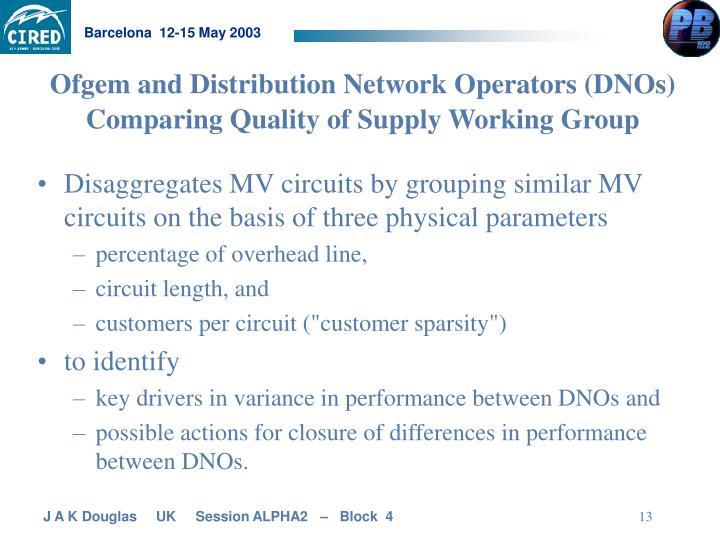 Ofgem and Distribution Network Operators (DNOs)