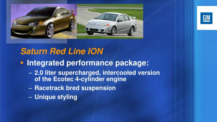 Saturn Red Line ION