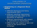 challenges of cross border operations