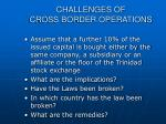 challenges of cross border operations24