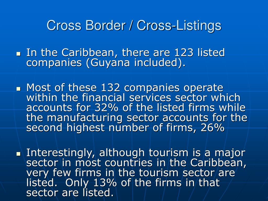 Cross Border / Cross-Listings