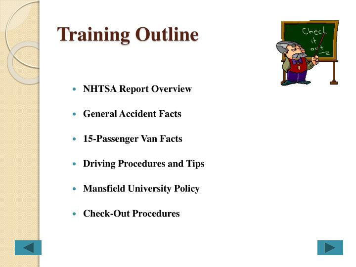 Training outline