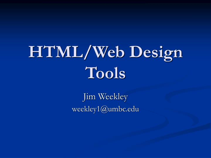 html web design tools n.