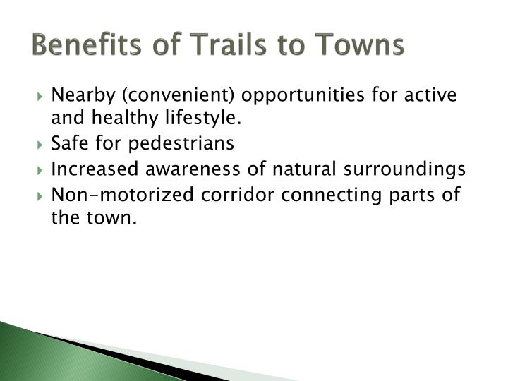 Benefits of Trails to Towns