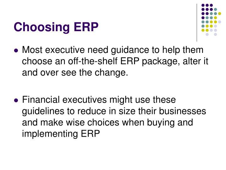 Choosing erp1