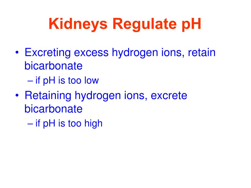 Kidneys Regulate pH
