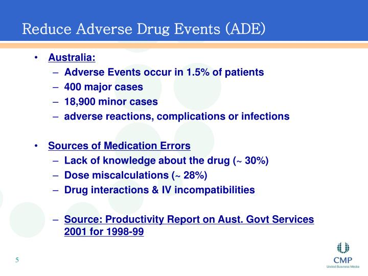 Reduce Adverse Drug Events (ADE)