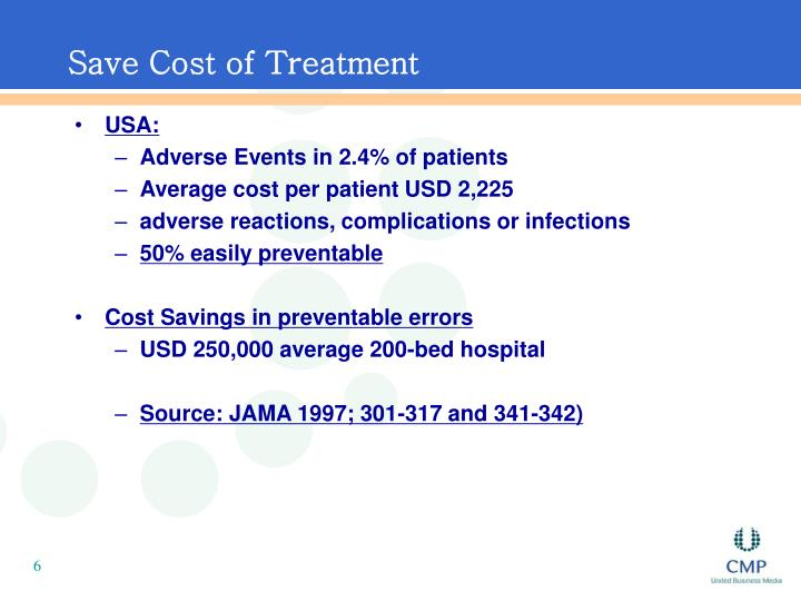 Save Cost of Treatment
