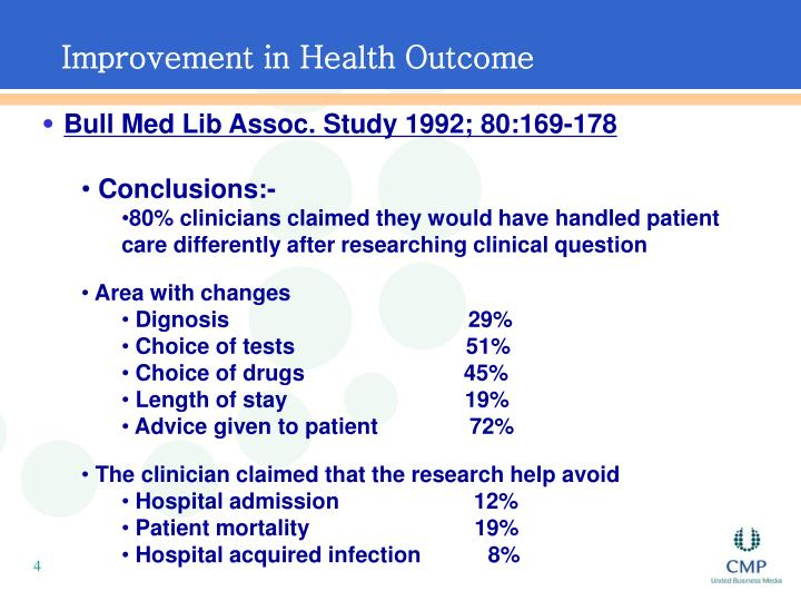 Improvement in Health Outcome