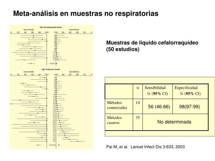 Meta-análisis en muestras no respiratorias