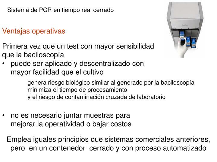 Sistema de PCR en tiempo real cerrado