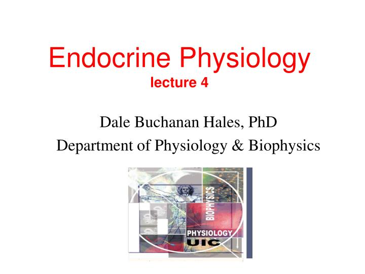 endocrine physiology lecture 4 n.