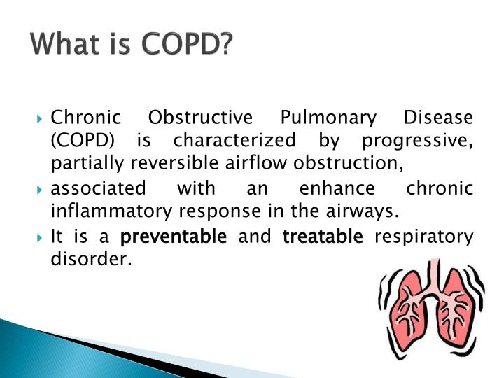 teaching plan of copd Most chronic obstructive pulmonary disease copd patients receive outpatient treatment, so provide comprehensive patient teaching to help them comply with therapy and understand the nature of this chronic, progressive disease.