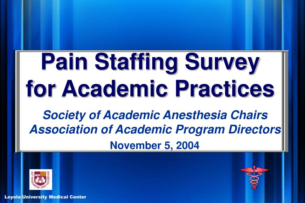 Pain Staffing Survey