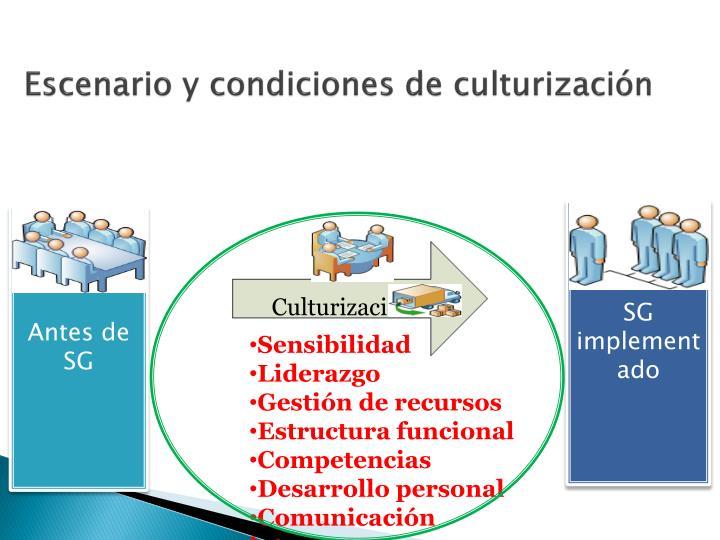 Escenario y condiciones de culturizaci n1