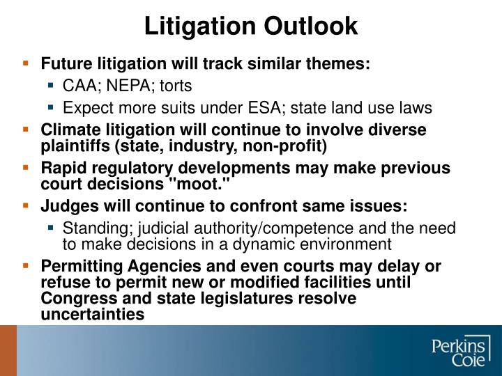 Future litigation will track similar themes: