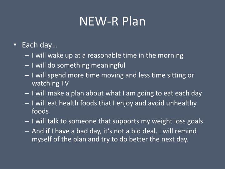 NEW-R Plan