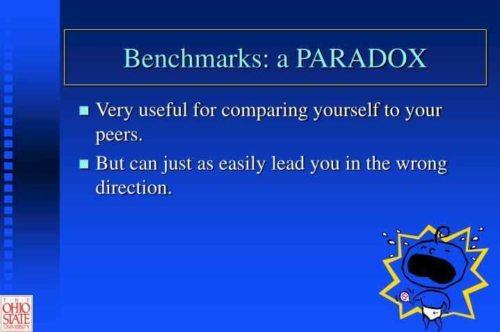 Benchmarks a paradox