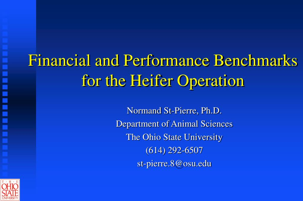financial and performance benchmarks for the heifer operation l.