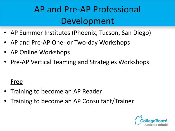 AP and Pre-AP Professional Development