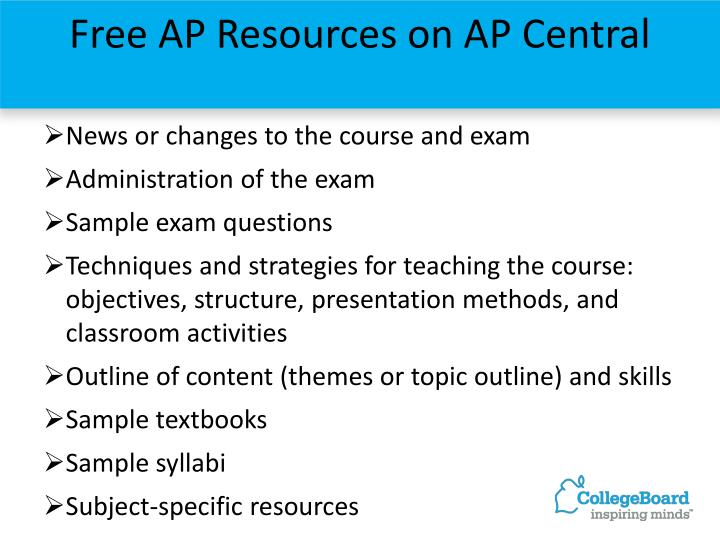 Free AP Resources on AP Central