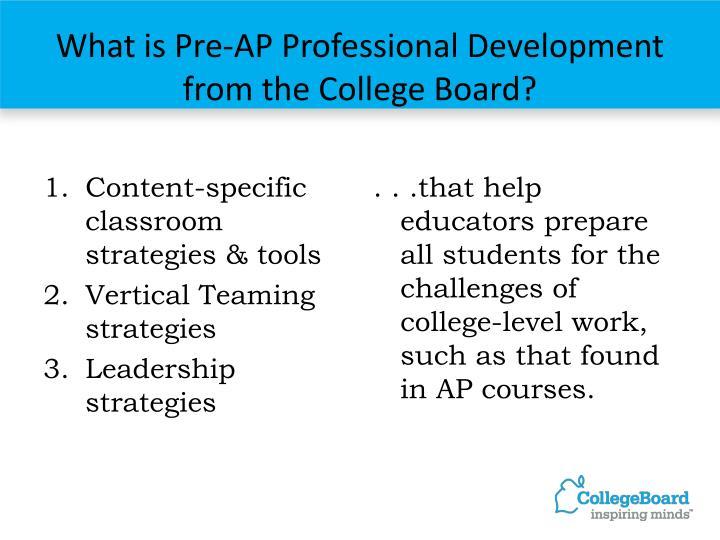 Content-specific classroom strategies & tools