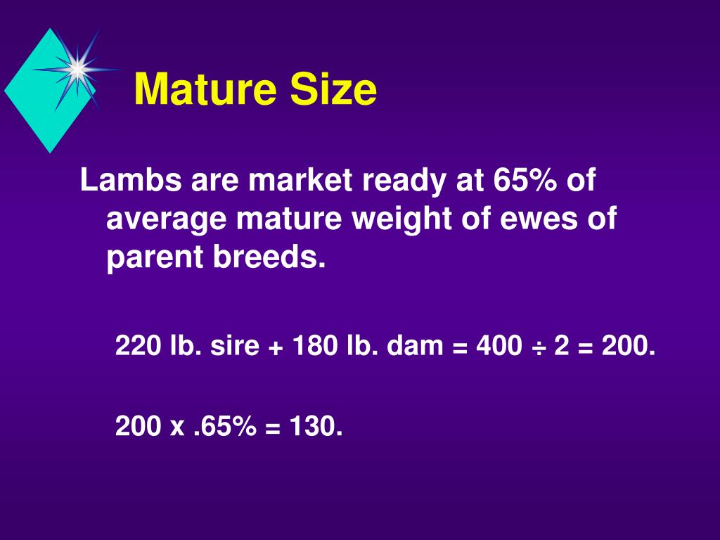 Mature Size