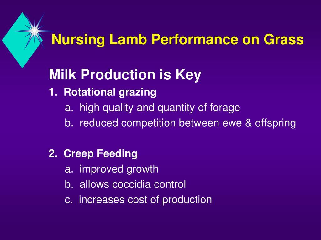 Nursing Lamb Performance on Grass
