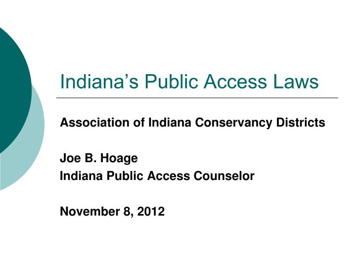 indiana s public access laws n.