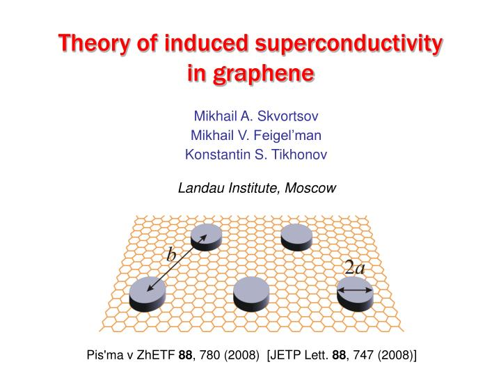 Theory of induced superconductivity in graphene