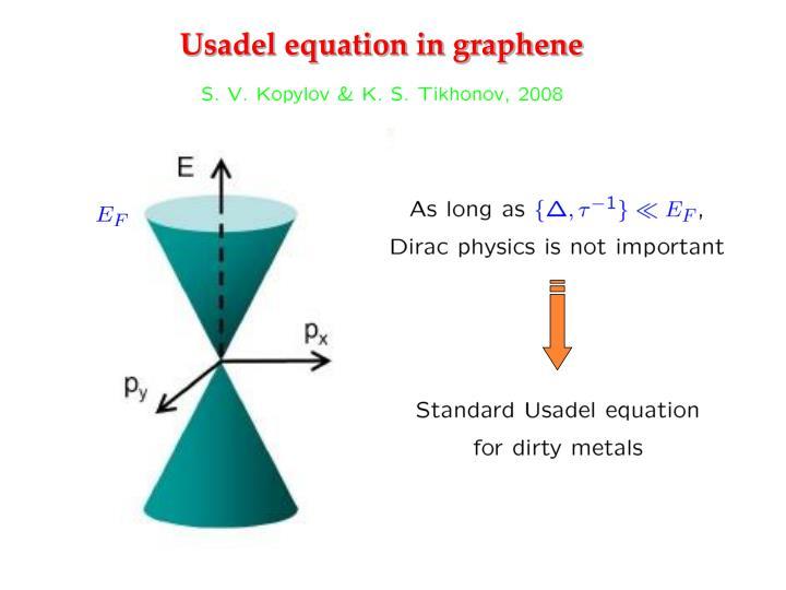 Usadel equation in graphene