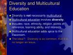diversity and multicultural education