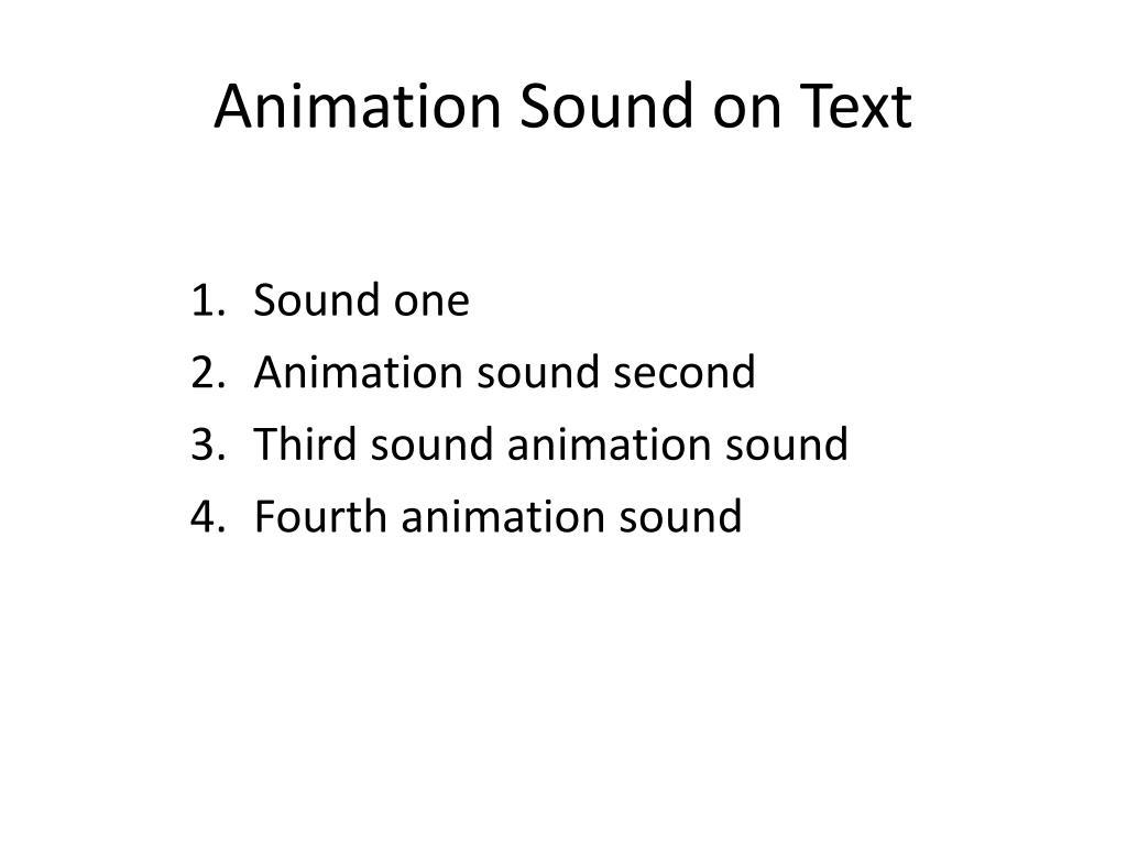 Animation Sound on Text