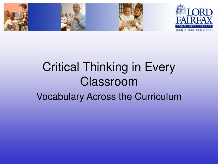critical thinking in every classroom n.