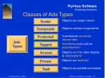 classes of ada types