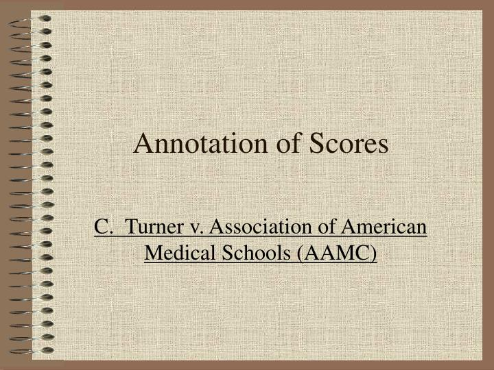 Annotation of Scores